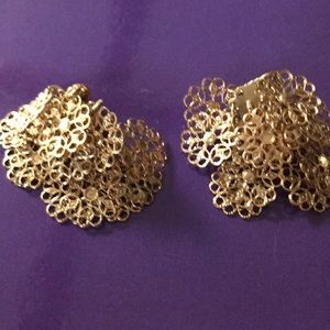 Vintage costume clip on earrings.